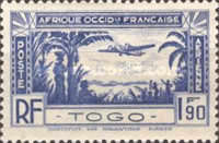 [Airmail - Aircraft over Coastal Landscape, type V]