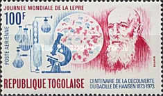 [Airmail - The 100th Anniversary of Discovery of the Leprosy Bacillus and the 20th Anniversary of World Leprosy Day, type WN]