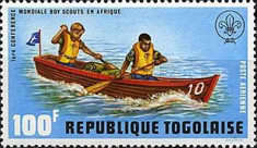 [Airmail - The 1st World Congress of Scouts in Africa, type XF]