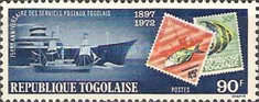 [The 75th Anniversary of Stamps of Togo, 1972, type XV]
