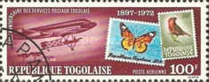 [Airmail - The 75th Anniversary of Stamps of Togo, 1972, type XW]