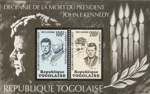 [Airmail - The 10th Anniversary of the Death of John F. Kennedy, 1917-1963, type YC1]