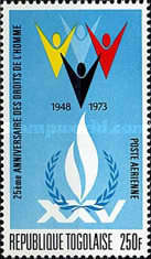 [The 25th Anniversary of the Universal Declaration of Human Rights, type YD]