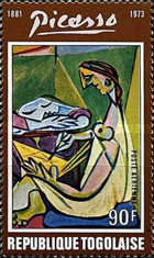 [Airmail - The 1st Anniversary of the Death of Spanish Painter Pablo Picasso, 1881-1973, type YW]