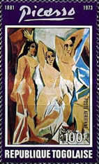 [Airmail - The 1st Anniversary of the Death of Spanish Painter Pablo Picasso, 1881-1973, type YX]