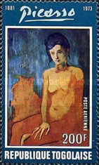 [Airmail - The 1st Anniversary of the Death of Spanish Painter Pablo Picasso, 1881-1973, type YY]