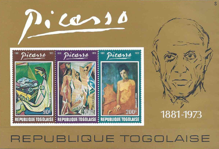[Airmail - The 1st Anniversary of the Death of Spanish Painter Pablo Picasso, 1881-1973, type YY1]