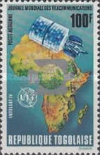 [Airmail - International Stamp Exhibition INTERNABA and the 100th Anniversary of U.P.U. - Map of africa & Satellite, type ZM1]