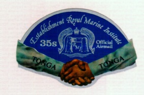 [Airmail - Establishment of the Royal Marine Institute - Postage Stamps of 1973 Overprinted and Surcharged - Self-Adhesive, type AF1]