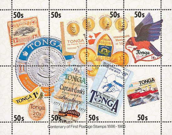 [The 100th Anniversary of First Tonga Stamps, type ]