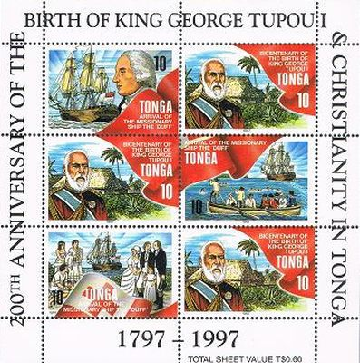 [The 200th Anniversary of the Birth of King George Tupou I, 1797-1893, and the 200th Anniversary of Christianity in Tonga, type ]