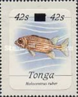 [Marine Life - Stamps of 1984 Surcharged, type AHI]