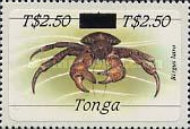 [Marine Life - Stamps of 1984 Surcharged, type AHM]