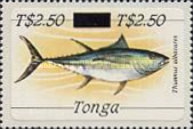 [Marine Life - Stamps of 1984 Surcharged, type AHN]