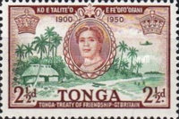 [The 50th Anniversary of Treaty of Friendship between Great Britain and Tonga, type AT]