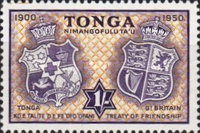 [The 50th Anniversary of Treaty of Friendship between Great Britain and Tonga, type AW]