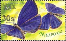 [Niuafoou Postage Stamps Surcharged, type BJV]