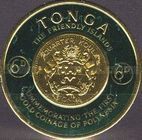 [First Polynesian Gold Coinage Commemoration, type CA]
