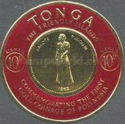 [Airmail - First Polynesian Gold Coinage Commemoration, type CE]