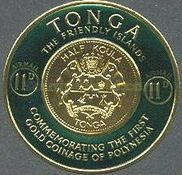 [Airmail - First Polynesian Gold Coinage Commemoration, type CF]