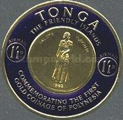 [Airmail - First Polynesian Gold Coinage Commemoration, type CG]
