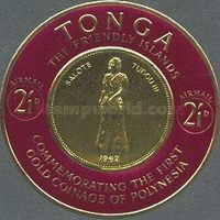 [Airmail - First Polynesian Gold Coinage Commemoration, type CH]