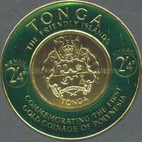 [Airmail - First Polynesian Gold Coinage Commemoration, type CI]