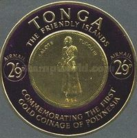 [Airmail - First Polynesian Gold Coinage Commemoration, type CJ]