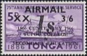 [Airmail - Emergency Provisionals - Various Stamps Surcharged, type HS]