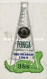 [Airmail - The 1st Oil Search in Tonga, type IS]