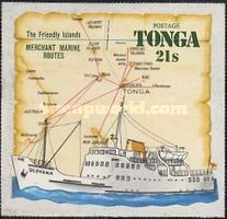 [Airmail - Ships & Map - Tongas Commercial Fleet, type MK]