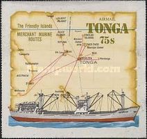 [Airmail - Ships & Map - Tongas Commercial Fleet, type ML]