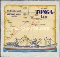 [Airmail - Ships & Map - Tongas Commercial Fleet, type MN]