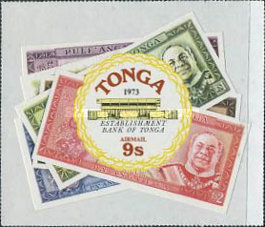 [Airmail - Foundation of Bank of Tonga, type OE]