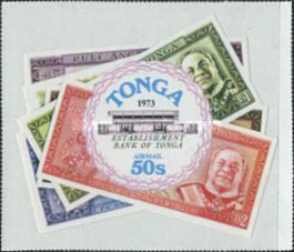 [Airmail - Foundation of Bank of Tonga, type OH]