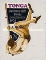 [Airmail - The 10th Commonwealth Sports Games, Christchurch, New Zealand - Various Stamps Surcharged, type PI]