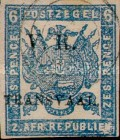 """[South African Postage Stamps Overprinted """"V. R. - TRANSVAAL"""" in Black, type A10]"""
