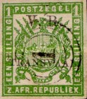 """[South African Postage Stamps Overprinted """"V. R. - TRANSVAAL"""" in Black, type A12]"""