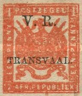 """[South African Postage Stamps Overprinted """"V. R. - TRANSVAAL"""" in Black, type A6]"""