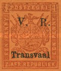 """[Not Issued Stamps - Overprinted """"V.R. - Transvaal"""", type B1]"""