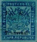"""[Not Issued Stamps - Overprinted """"V.R. - Transvaal"""". Italic """"V. R."""", type C6]"""