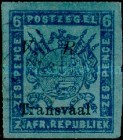 """[Not Issued Stamps - Overprinted """"V.R. - Transvaal"""". Italic """"V. R."""", type C7]"""