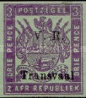 """[Not Issued Stamps Overprinted """"V.R. Transvaal"""" - Small """"V. R."""", Colored Paper, type F2]"""