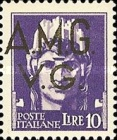 "[Italian Postage Stamps Overprinted ""A.M.G.V.G."" - Allied Military Governemnt Venezia Guilia, type A2]"
