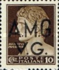 "[Italian Postage Stamps Overprinted ""A.M.G.V.G."" - Not Watermarked, type A4]"