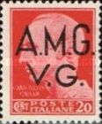 "[Italian Postage Stamps Overprinted ""A.M.G.V.G."" - Not Watermarked, type A5]"