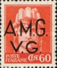 "[Italian Postage Stamps Overprinted ""A.M.G.V.G."" - Not Watermarked, type A6]"