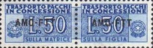 [Italy Parcel Fee Stamps Overprinted