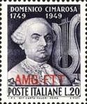 [The 200th Anniversary of the Birth of Cimarosa - Italy Postage Stamp Overprinted