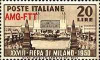 [The 28th Milan Trade Fair - Italy Postage Stamp Overprinted